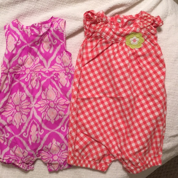Carter's Other - Carter's baby girl rompers